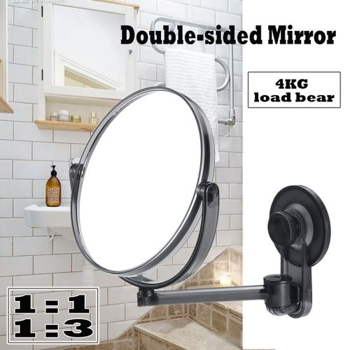 Wall Mounted Double Side Hanging Suction Cup Bathroom Toilet Mirror