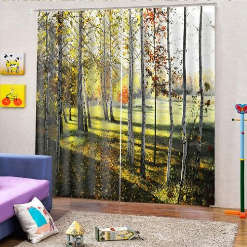 Bedroom Blackout Curtains Modern Panels Living Room Bedroom Window High Quality Full Shade Print Curtain For Living Room