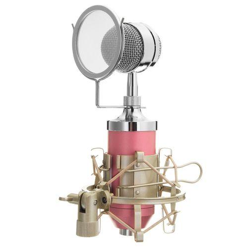 BM-3000 Studio Recording Condenser Microphone Mic+Metal Shock Mount For ASMR