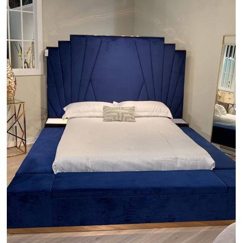 Vintan Blue 6 By 6 Ft Bedframe Only