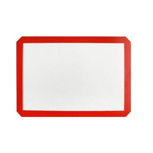 42X29.5Cm Silica Gel Fiberglass Baking Mat Macaron Pad Food Grade Silicone White Background
