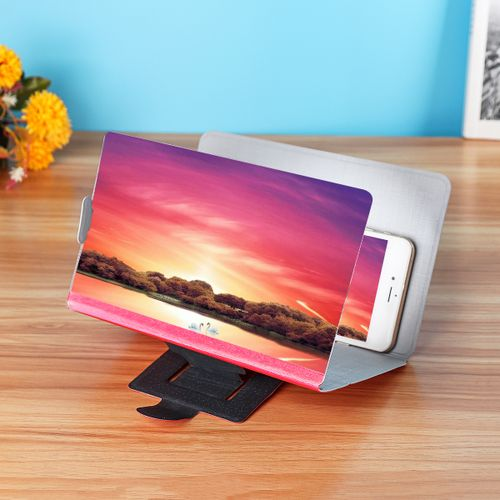 8Inch 3D Enlarge Magnifier HD Screen Amplifier Folding Stand