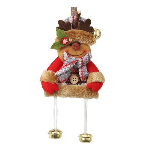 Burlap Doll Pendant Creative Ornament Christmas Tree Old Man Snowman Lattice Colorful