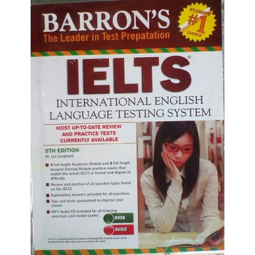 Barron's Ielts 5th Edition +Up To Date Practice Test +Mp3 Audio Cd