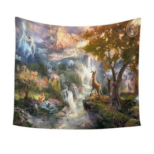 Generic Fashion Print Wall Hanging Tapestry Beach Picnic Throw Yoga Mat Towel Blanket