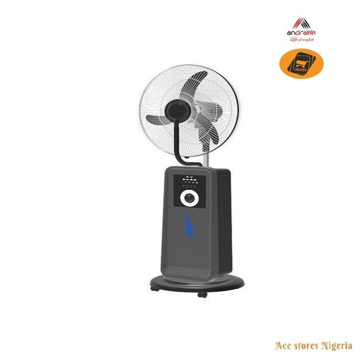 "18"" Rechargeable Mist Fan + Remote + Solar Charge Port"
