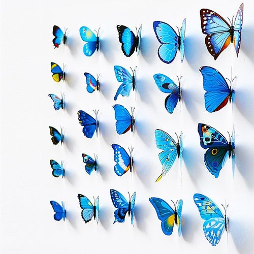 12pcs Butterfly 3D DIY Wall Stickers Home Decor