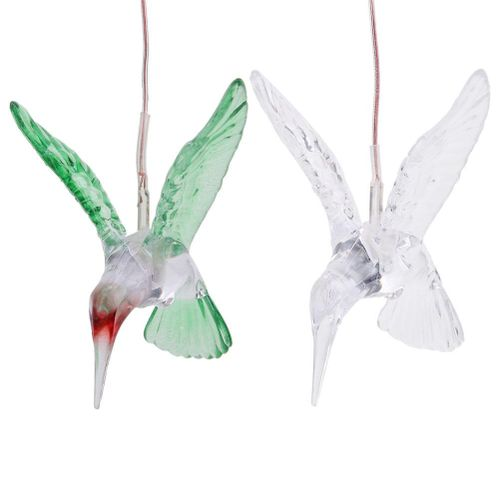 Bicaquu Bird Wind Chime, Led Lamp Of Solar Energy Changing Color Wind Chimes