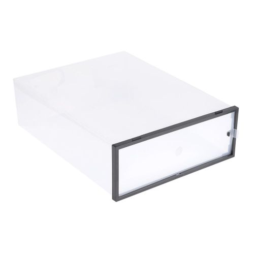Clear Foldable Thickened Plastic Shoe Storage Box Stackable Case Shoes Organizer