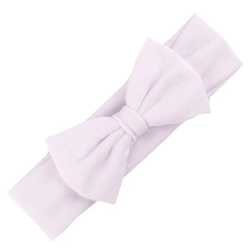 Braveayong Hair Accessories Baby Hair Soft Mesh Bowknot Hair Band White -White