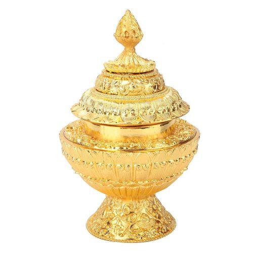 3 Layer Altar Food Box 8 Auspicious Ritual Meditation Tibet Buddhist Tantra Supplies