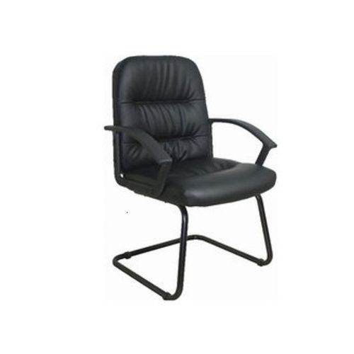 Leather Visitors Chair- Black