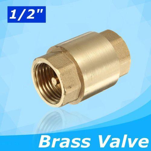 "1/2"" Female To Female Non-return Check Brass Ball Valve Water Tank Spring Loaded"