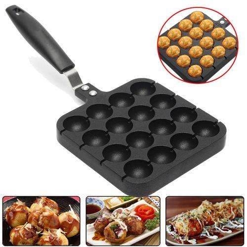 Home 16 Holes Cooking Baking Grill Mold Octopus Ball Maker Takoyaki Pan Plate