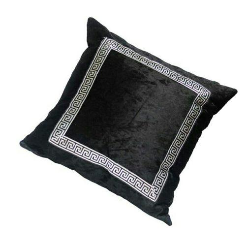 Black Velvet Decorative Throw Pillow