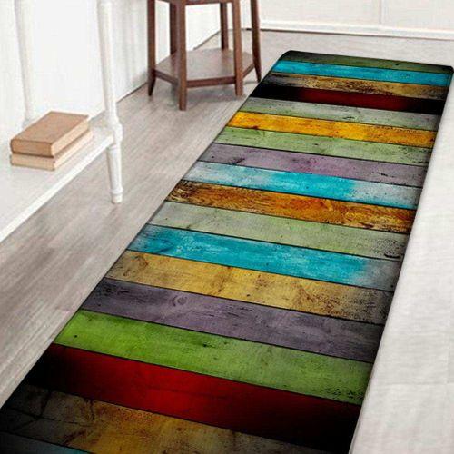 Kitchen Carpet Polyester Non-slip Door Mat Foot Pads Bathroom Living Room Bedside Table Door Mats Floor Pads