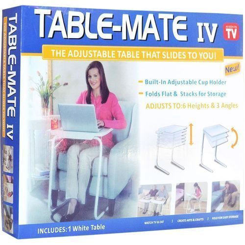 Table Mate IV Adjustable Table That Slide To You With Cup Holder