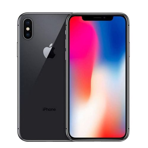 IPhone X Mobile Phone (256GB ROM, 3GB RAM) 5.8 Inch With Tempered Glass Smartphone - Black