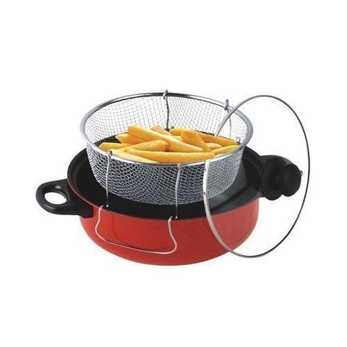 Manual Deep Fryer-3 In 1 Deep Fryer- 28CM-Multicolour