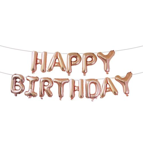 Balloons Happy Birthday 16inch -rose Gold