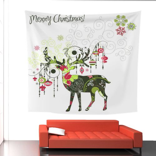 Fudaolom ShopChristmas Print Wall Hanging Tapestry Beach Picnic Throw Yoga Mat Towel Blanket