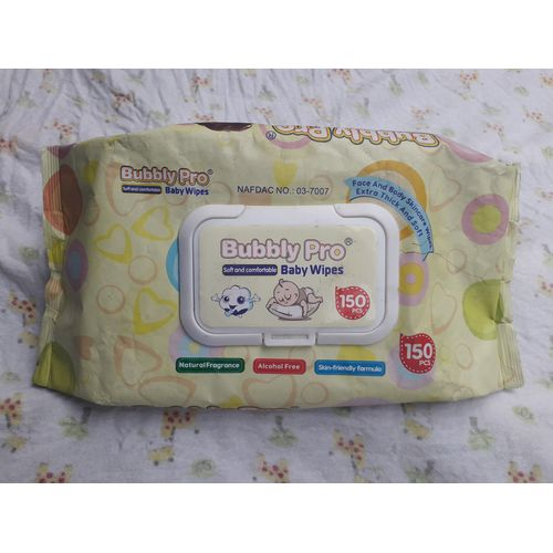 Bubbly Pro Baby Wipes Counts 3packs (450pcs) / Wet Wipes