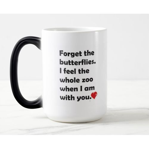 Color Changing Magic Mug - Forget The Butterflies