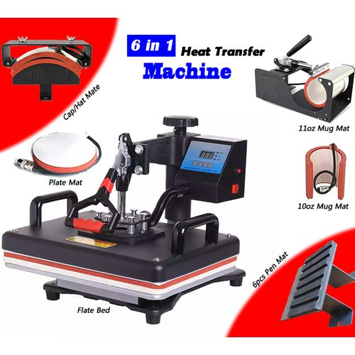 6 In 1 Multi-function Digital Heat Press Machine