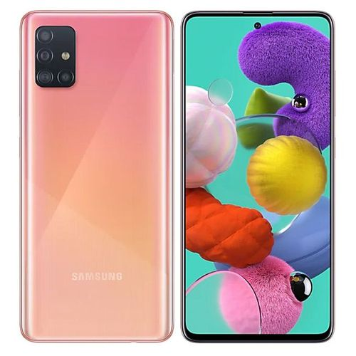 Galaxy A51 6.5-Inch (6GB,128GB ROM) Android10.0, (48MP +12MP + 5MP + 5MP) + 32MP Dual SIM - Prism Crush Pink