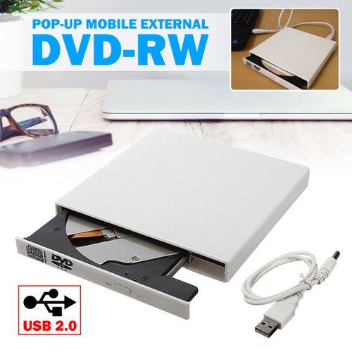 White USB External Slot In RW CD Drive Burner Superdrive For PC Laptop MacBook