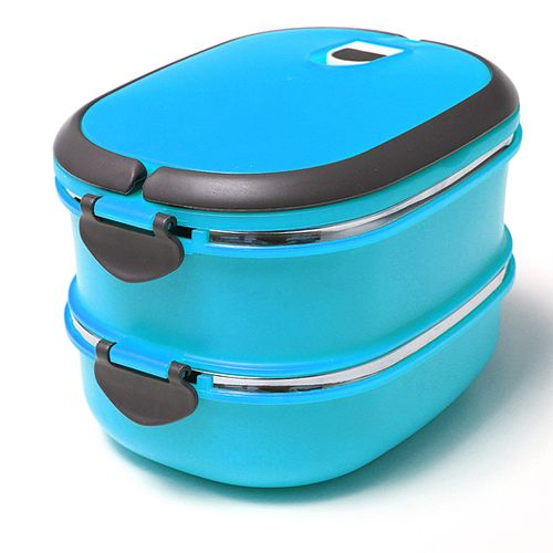 US 2 Layer Stainless Steel Insulated Bento Food Thermal Container Lunch Box
