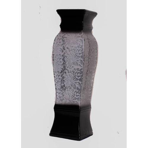 Unique Flower Vase - Silver & Black