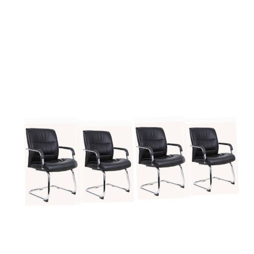 Office Visitor Chair With Padded Armrest (Z107V) - Park Of 4