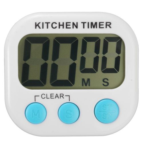 EIVOTOR LCD Digital Kitchen Cooking Timer Count-Down Up Loud Alarm Magnetic Blue
