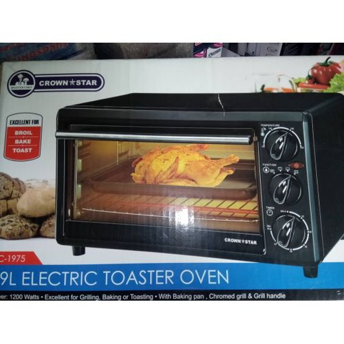 19 Litre Toaster Oven (Baking + Toasting + Grilling)