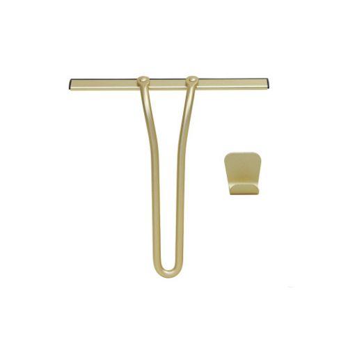 Gold Glass Window Wiper Bathroom Shower Door Scraper Cleaner Cleaning Tool With Hook