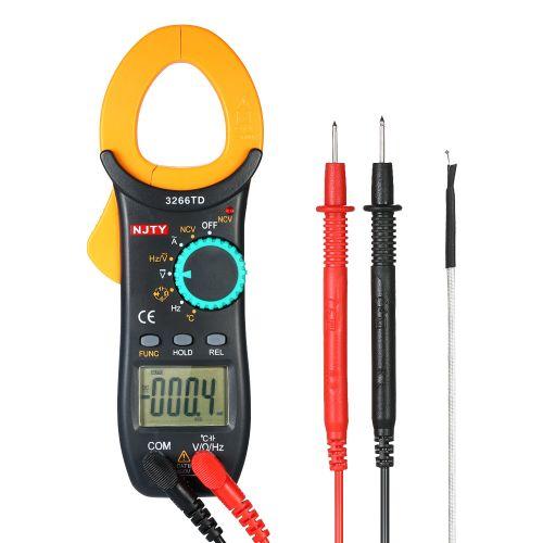 NJTY Digital Clamp Meter 4000 Counts Auto Range Multimeter