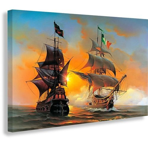 Sailing Ships Canvas Print (Reference: Cp103)