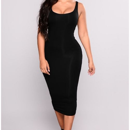 Alisa Sleeveless Bodycon/ Pencil Dress - Black