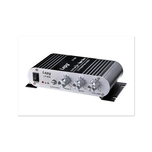 Super Bass Mini Hi-Fi Stereo Amplifier 2.1CH Booster Radio MP3 Car Home 2*20W