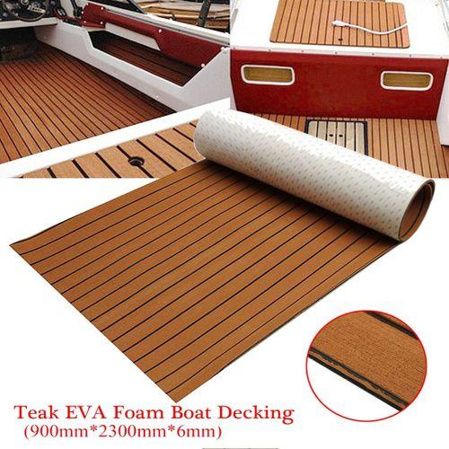 "EVA Foam Flooring Decking Sheet Light Brown Marine Boat 35"" X 91"" 6MM Thick"