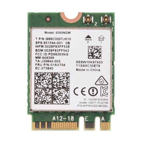 Mini WIFI Wireless NGFF/ M2 Card Bluetooth 4.2 + 2.4G/ 5G Dual-Band For PC/ Laptop