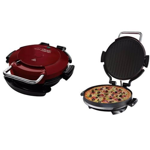 Fat Reducing Entertaining 7-Portion 360° Pizza Grill - Deep Baking/Removable Plates