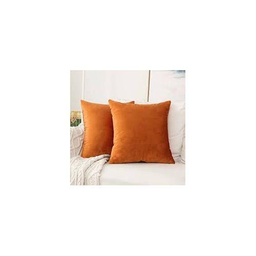 Orange Pale Throw Pillows-2pieces.
