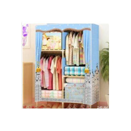 Wooden Mobile Wardrobe - 2 Column
