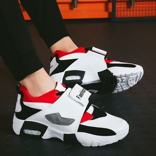 Men Sneakers Running Shoes Lace-up Sport Shoes-red02.