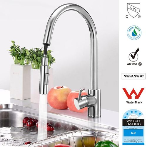 Kitchen Basin Sink Hot And Cold Pull Out Spray Faucet Head Shower Swivel Spout Mixer Tap (Water
