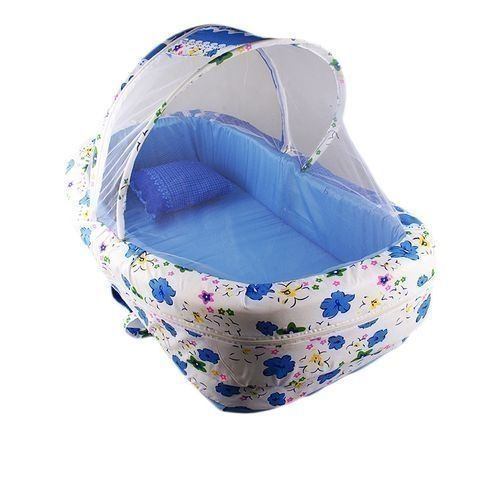 Foldable Moses Baby Bed- Multicolour