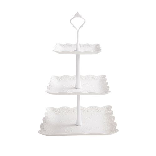 3 Tier Cupcake Stand Dessert Plates Fruit Candy Mini Cakes
