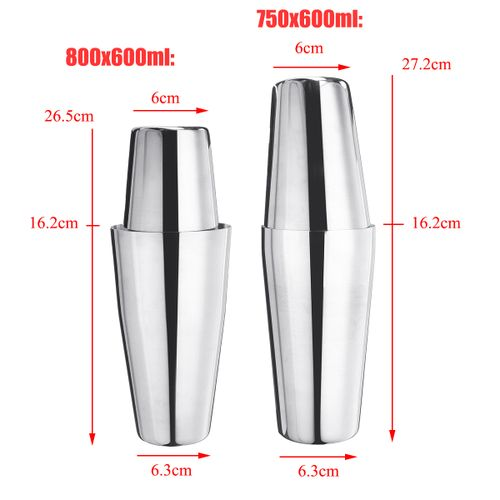 Stainless Steel Cocktail Shaker Mixer Drink Bartender Martini Tools Bar Cup